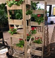 4. Folding wooden plant stand from Avery Imports