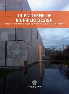 1.14 Patterns of Biophilic Design is a free online resource with design strategies and interventions to help you integrate biophilia into your projects (Image: Terrapin Bright Green)